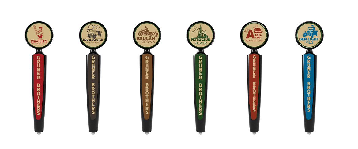 Gruner Brothers Brewing Taps