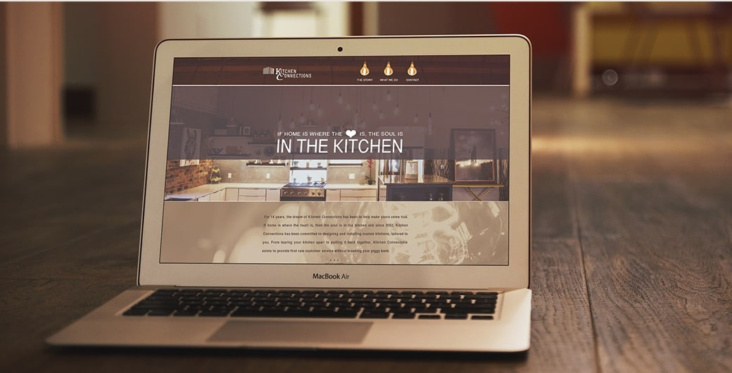 Laptop featuring Kitchen Connections Website