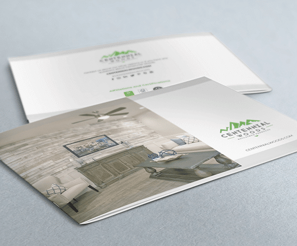 Image of printed booklet for Centennial Woods