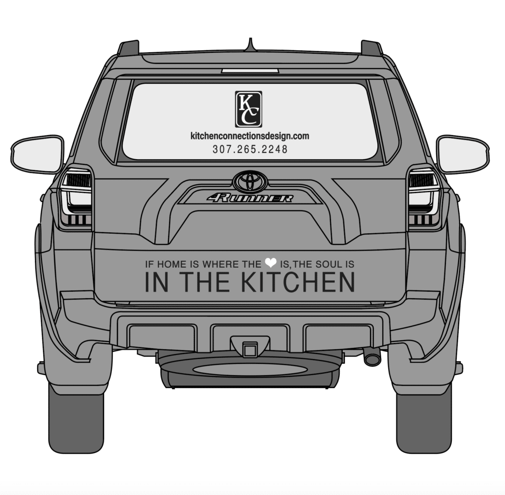 Kitchen Connections Car Wrap