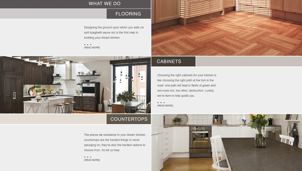 Kitchen Connections Website Preview